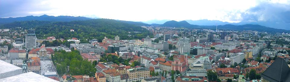 Panoramic view of Ljubljana